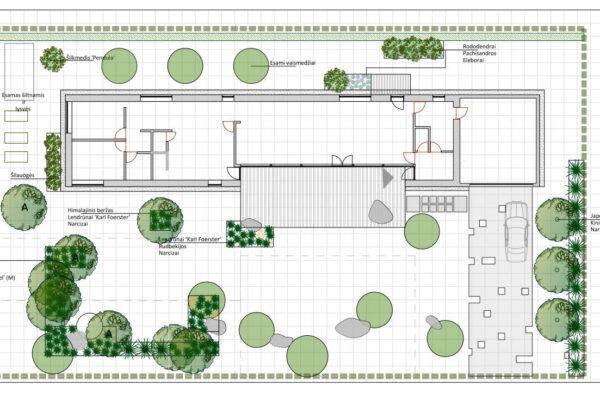ilgas namas-bendras planas